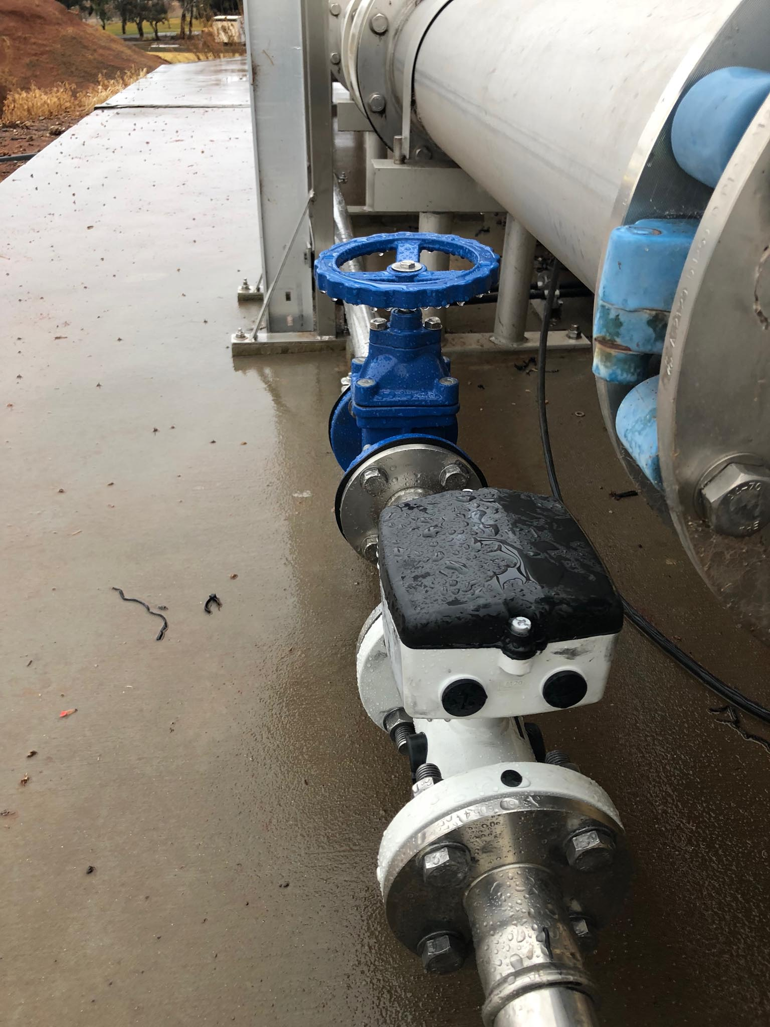 Council sewerage system pumps installation
