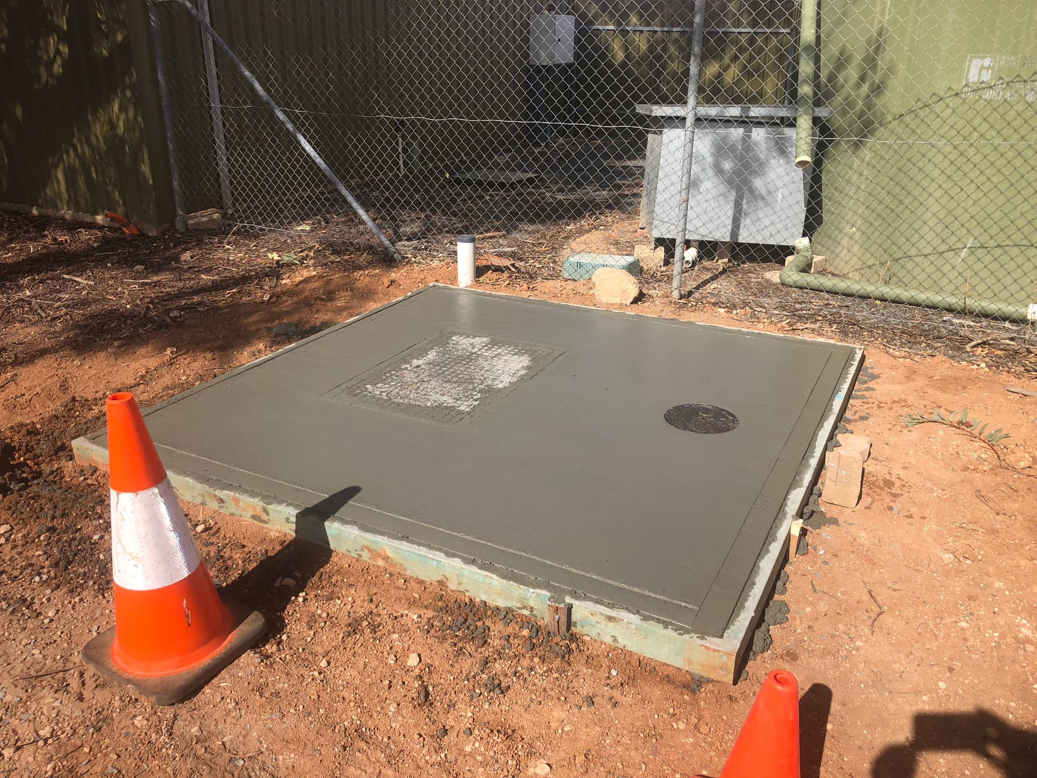 Sewer pump station construction in NSW