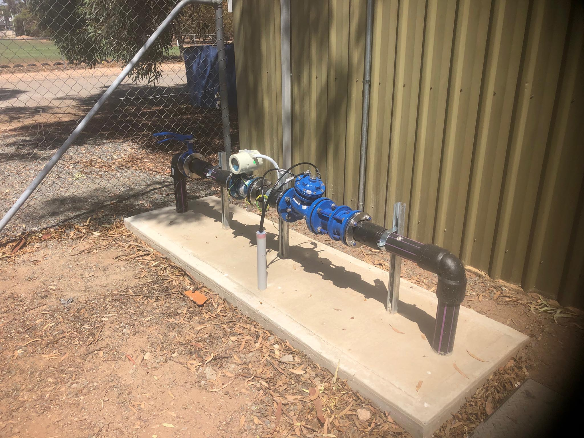 Council recycled water system construction